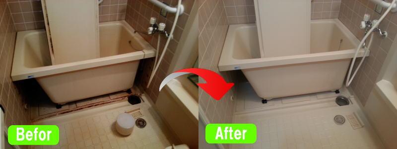 浴室クリーニングサービス活用ビフォー・アフター