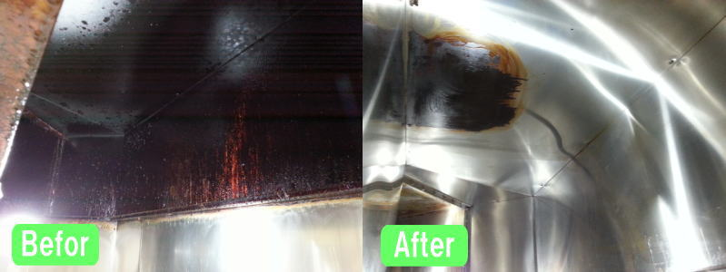 厨房レンジフード清掃事例